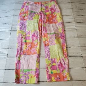 Lilly pulitzer white label patchwork crop pants